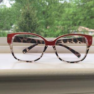 Red Leopard Print Eyeglasses (non prescription)